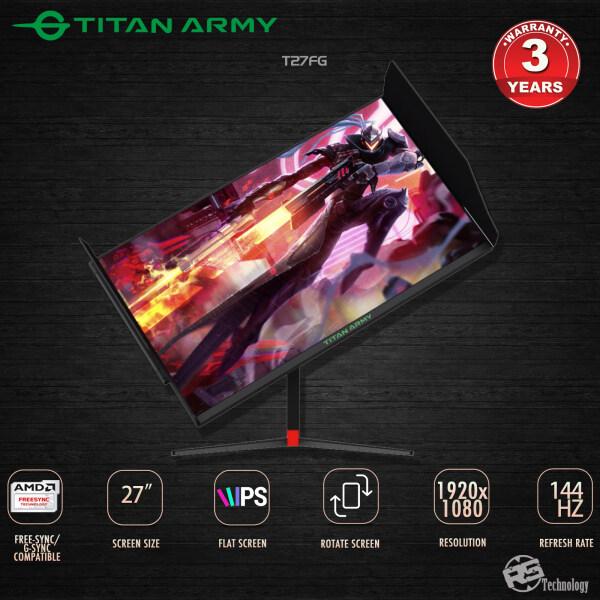 TITAN ARMY 27 IPS 144hz Rotate Gaming Monitor (T27FG) Malaysia