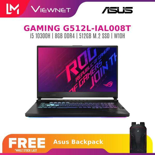 ASUS ROG STRIX G512L-IAL008T 15.6 IPS FHD 144hz Gaming Laptop i5-10300H 8GD4 512SSD GTX1650TI 4GD5 WIN10H BLACK Malaysia
