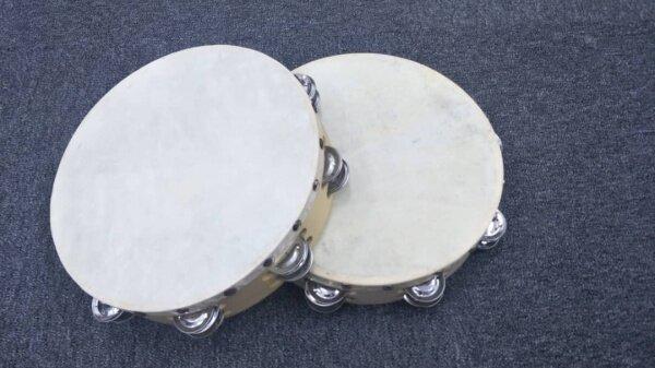 [Local Ready Stock] 10 Tambourine with Skin Malaysia