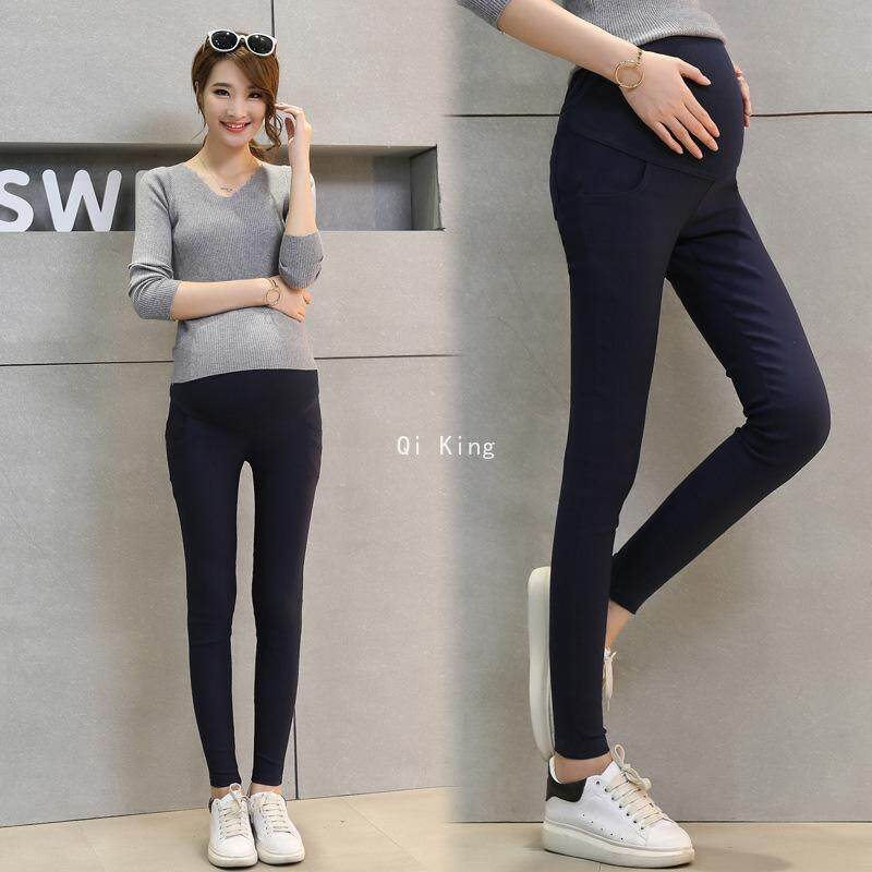 eb21b610f32 Qi King High Quality Korean Version Of Pregnant Women Casual Leggings  Stomach Lift Feet Tight Wear