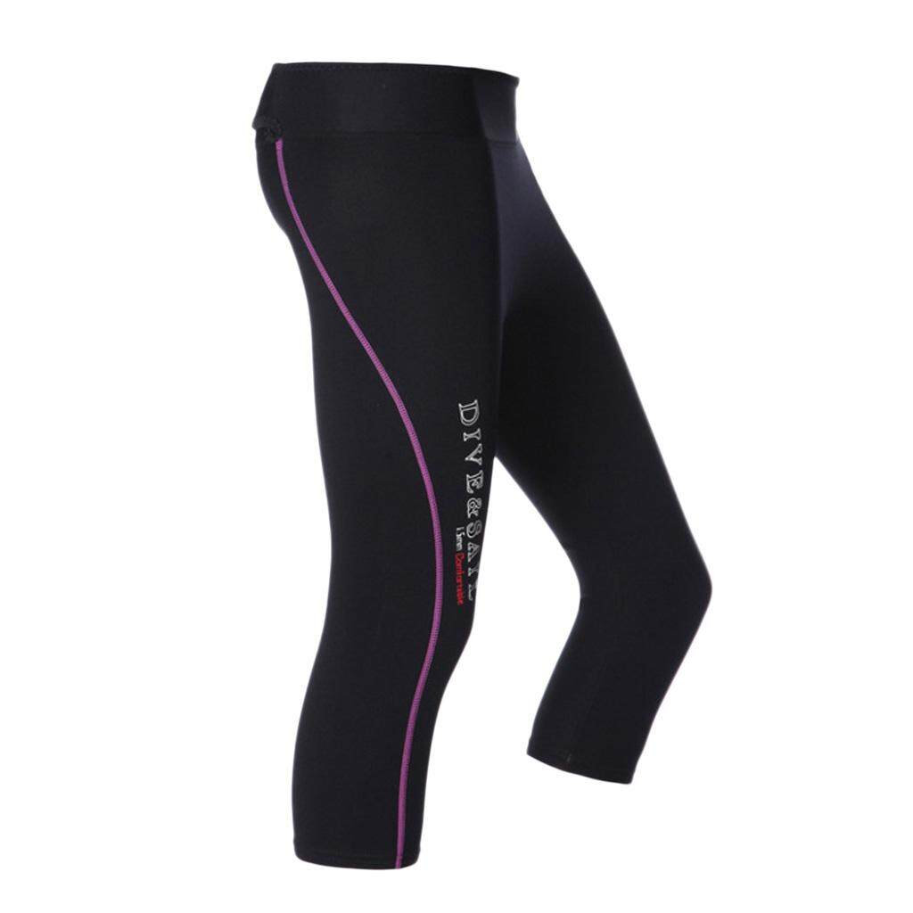 36287cbcfb5fe chulisia Men Women 1.5mm Neoprene Warm Dive Scuba Pants Capri Calf-length Surf  Pants