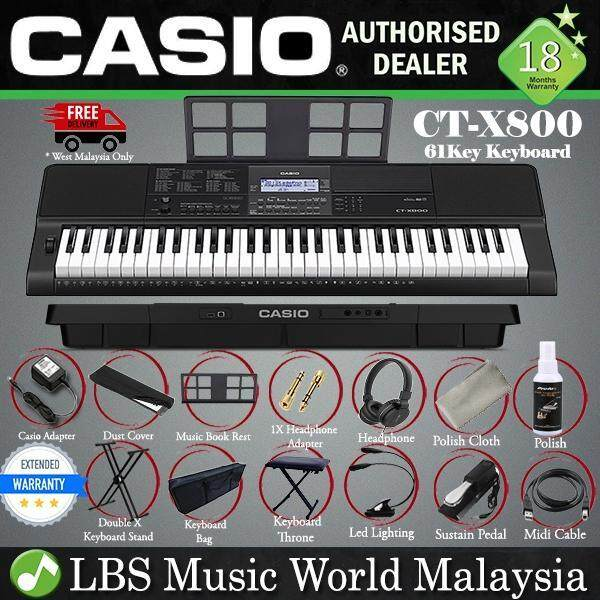 Casio CT-X800 61 Key Portable Keyboard Electronic Piano Complete Package (CTX800 CTX 800) Malaysia