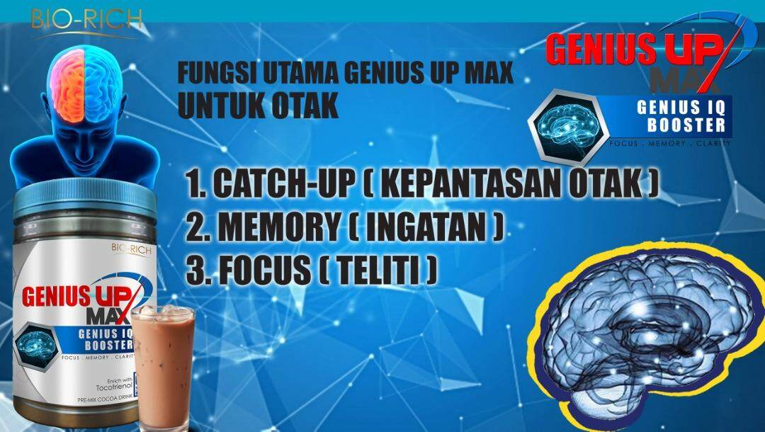 [ ORIGINAL MADE IN MALAYSIA - HOT SALE! ] - Advance Formula For Kids -  Genius Up Max Genius IQ Booster + Tocotrienol (Tablet 120pcs) Improve Brain