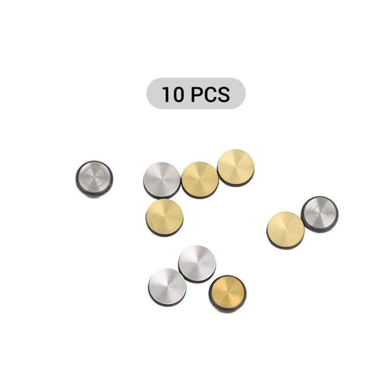 10PCS Universal Flute Plugs Metal Silicone Flute Pads Flute Open Hole Plugs Wind Instrument Replacement Accessory Malaysia