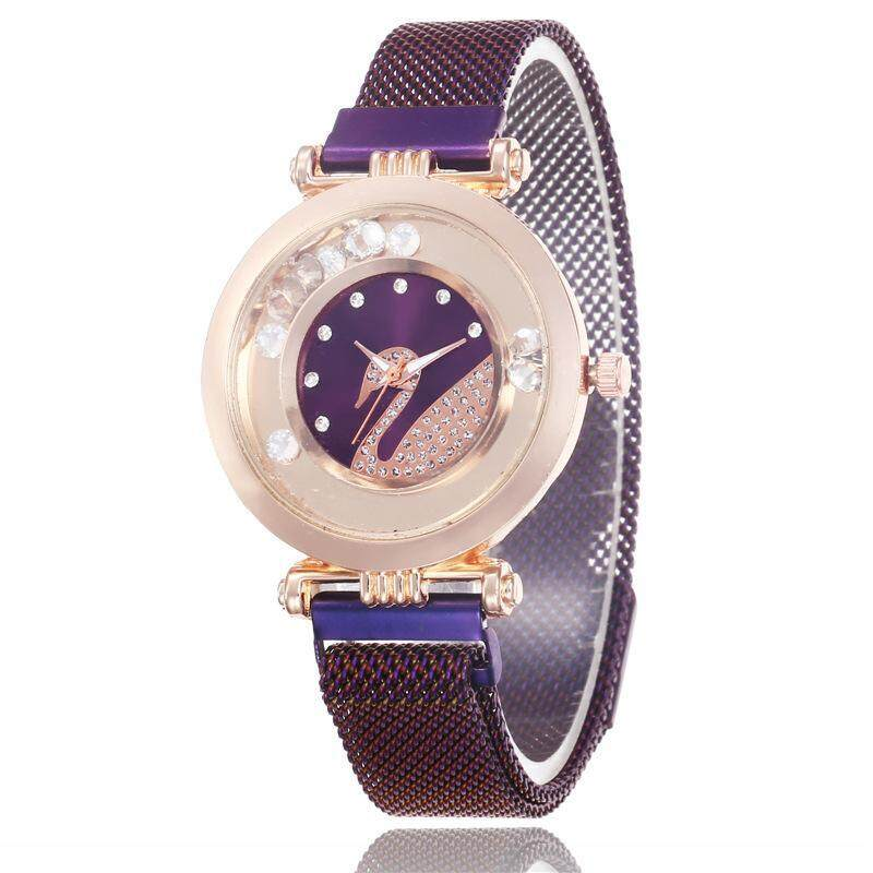 Swan 12 Diamonds Drift Sand Ball Watch For Women Man Watch Quicksand Simple Quartz Watch Malaysia