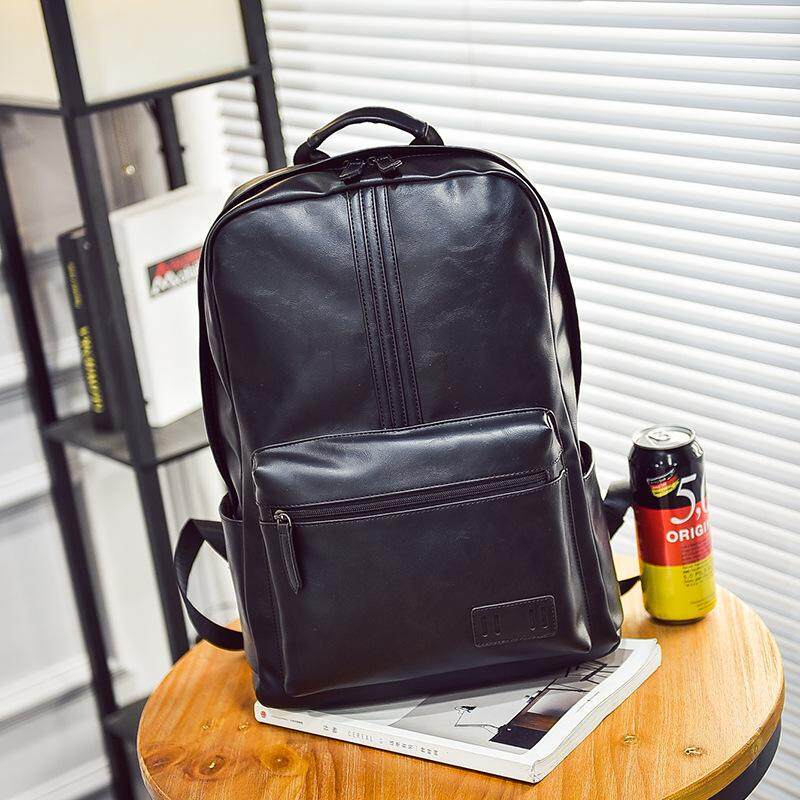Cowhide Leather Backpack Schoolbag Laptop Bag Outdoor Leisure Travel Tote Bag Shoulder Bag Package By Kookie Bags Store.
