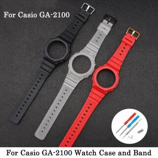 Vỏ Và Dây Đeo Đồng Hồ Silcone, Cho Casio G-Shock GA-2100 GA-2110 Người Đàn Ông Đồng Hồ Vòng Đeo Tay Nhựa Dây Đeo Cổ Tay Dây Đeo Và Viền Cao Su Cho Ga 2100 Ga 2110 thumbnail