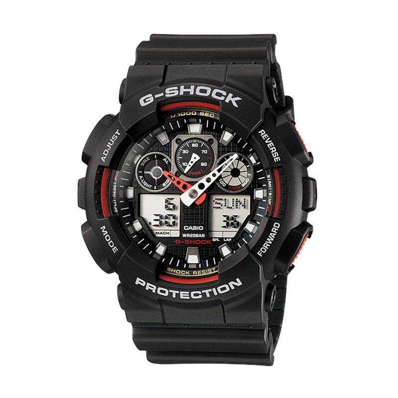 [100% Original G SHOCK]Casio G-Shock Standard Analog Digital Black Resin Watch GA100-1A4 GA-100-1A4 (watch for man / jam tangan lelaki / casio watch for men / casio watch / men watch / watch for men) Malaysia