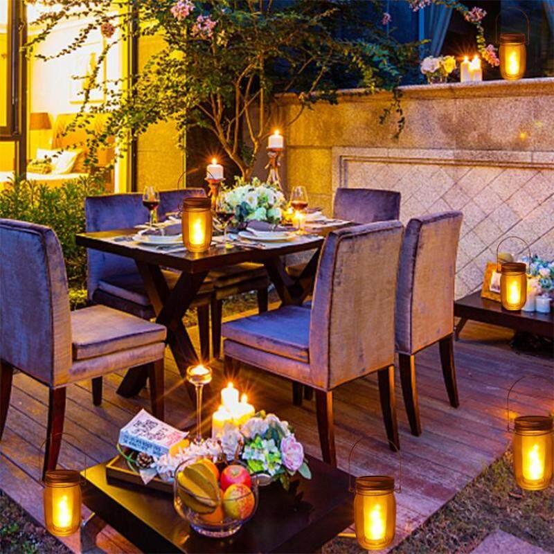 Đèn năng lượng mặt trời treo tự động cảm ứng nhấp nháy ngọn lửa đèn lồng cho sân vườn trang trí