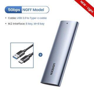 Hộp Đựng SSD M2 NVME Bộ Chuyển Đổi SSD M.2 Sang USB Type C 3.1 Cho NVME PCIE NGFF SATA M B Key SSD Box M.2 SSD thumbnail