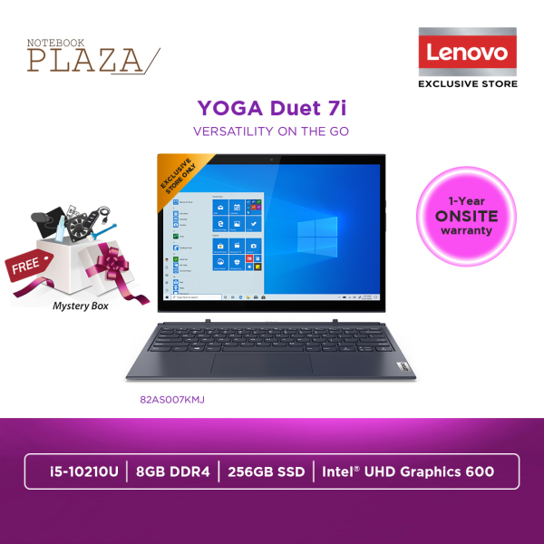 Lenovo Yoga Duet 7 13IML05 82AS007KMJ 13.3 WQHD Touch Laptop Orchid ( i5-10210U, 8GB, 256GB SSD, Intel, W10 ) Malaysia
