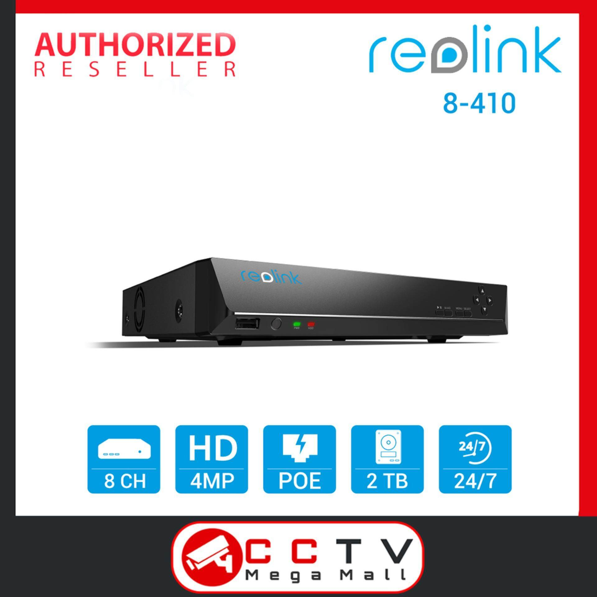 Reolink 8CH 4MP 2560*1440 PoE NVR w 2TB HDD ONLY for Reolink HD 1440P PoE  IP Cameras RLN8-410 - [ CCTV MegaMall ]