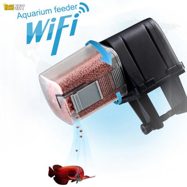 Hackey Máy Cho Cá Ăn Tự Động Thiết Bị Thông Minh Có Thể Lập Trình WiFi Máy Cho Cá Ăn Có Điều Khiển Bằng Ứng Dụng