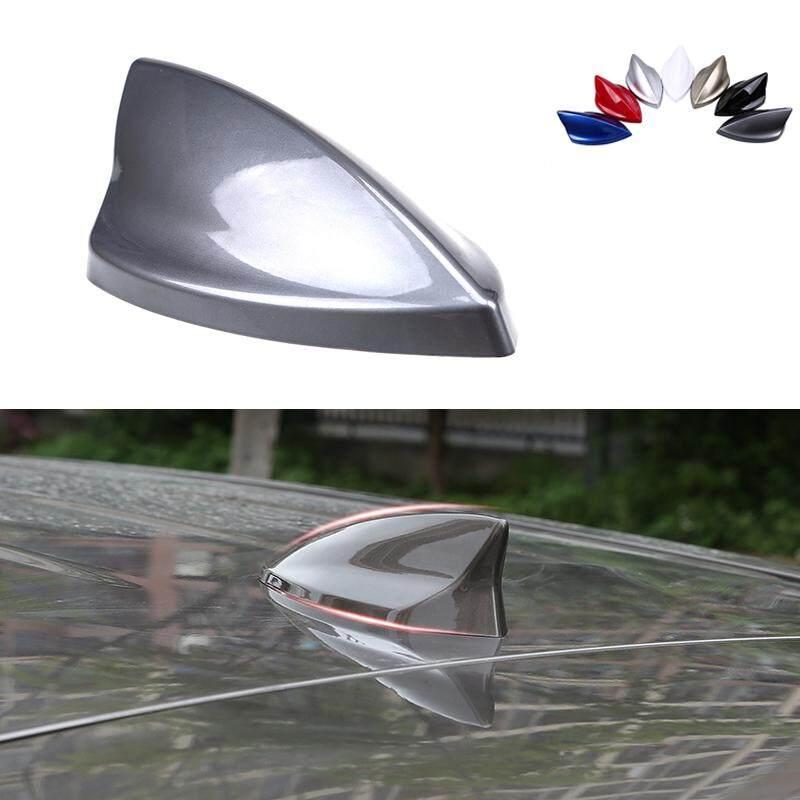 Shark Fin Car Roof Antenna Aerial FM/AM Radio Signal Grey