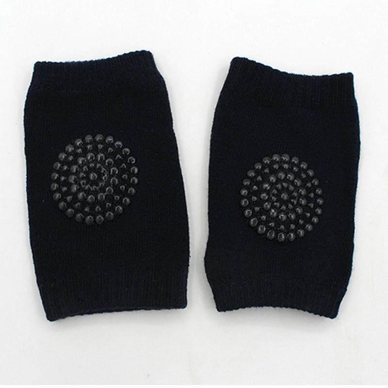 1 คู่ Anti - SLIP SAFETY Crawling สนับศอกเข่า Pad กึ่งผ้าฝ้ายถุงเท้าพื้นโปร่งเด็กทารกเด็กวัยหัดเดินเด็ก