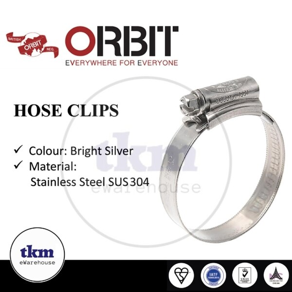 【SPOT HOT SALE】 New 2021 ORBIT SUS 304 STAINLESS STEEL HOSE CLAMP HOSE CLIP PIPE / CLIP PAIP AIR / KUNCI PIPE 9-120MM