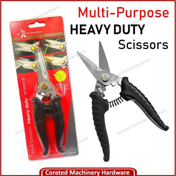 [CORATED] 7 Multi Function Heavy Duty Stainless Steel Scissors Tongs Shear ( Made In Taiwan )