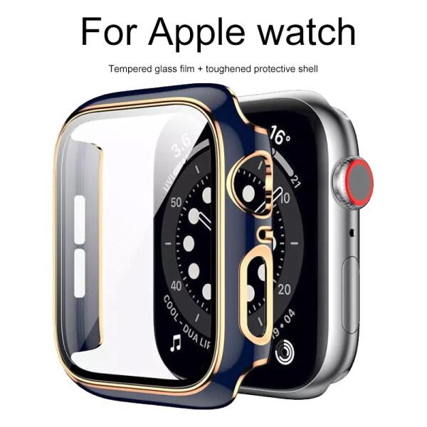 Kính Cường Lực + Bảo Vệ Màn Hình Phù Hợp Với Apple Watch 1 2 3 4 5 6 SE Dòng Đồng Hồ I 38Mm 40Mm 42Mm 44Mm