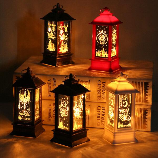 [Hàng Có Sẵn] Ramadan Đèn Lồng Đèn, Đồ Trang Trí Đèn LED EID Mubarak Đồ Trang Trí Treo Tiệc Hồi Giáo