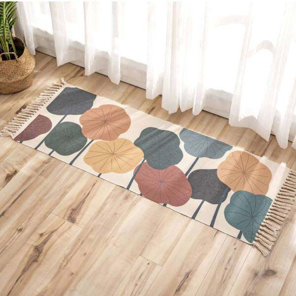 Bohemian Style Carpets Cotton Linen Rugs for Livingroom Bedroom Decor Tassels Tapete Floor Door Mat Coffee Table Sofa Area Rugs