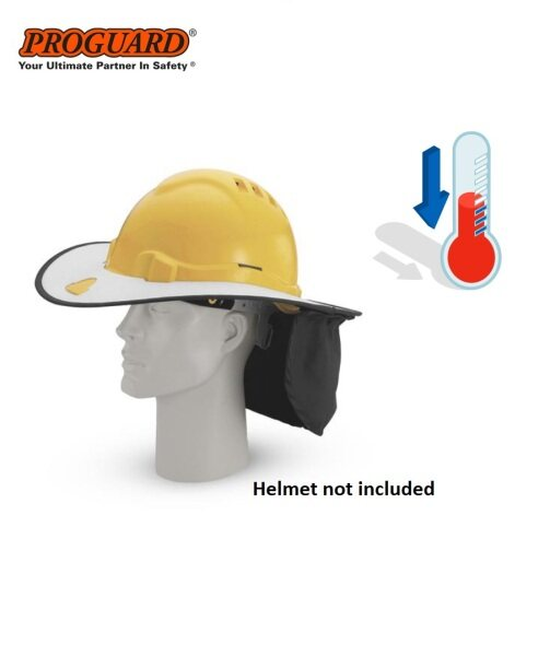 Lightweight Polyester & Cotton Safety Helmet Neck Flap Sunshade Brim Relief Hot HSB-AD123H (W/O Safety Helmet) PROGUARD (W/O Safety Helmet) PROGUARD