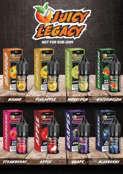 ( S@lt ) Juicy Legacy S@lt 10ML ( Blueberry / Grape / Honeydew / Mango / Pineapple / Strawberry / Watermelon ) Vape Juice Ready Stock Malaysia