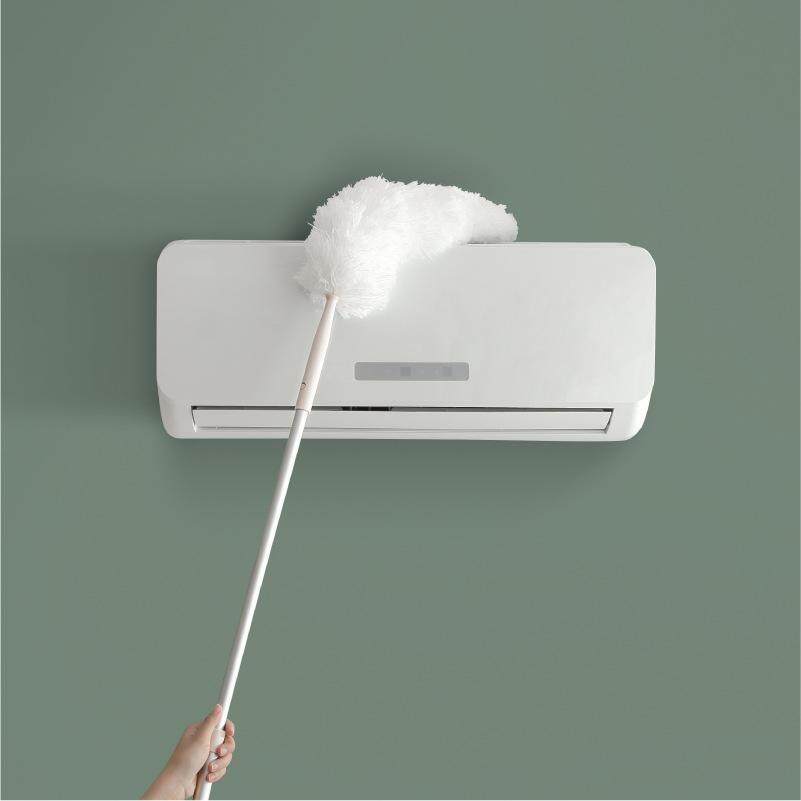 Retractable Aluminium Rod Household Dust Duster Chicken Feather Duster Household Cleaning Cleaning Dust Artifact Zen