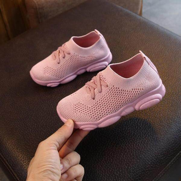 Giá bán Korean Cute Children Infant Kids Baby Girls Boys Solid Stretch Mesh Sport Run Sneakers Shoes Free Shopping COD
