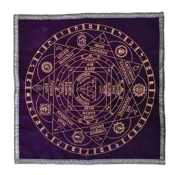 Phân phối NGHỆ THUẬT Tarot Pagan Bàn Thờ Khăn Trải Bàn Board Game Nhung Vải Trang Trí Bói Toán Thẻ Vuông Bìa Bàn 58x58cm