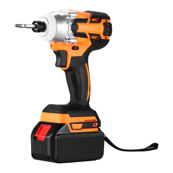 Brushless Cordless Impact Driver - 20V Max Li-Ion  Impact Driver Combo Kit w/ 221ft-lb Torque, 0-2800RPM Variable Speed, 4 lbs Lightweight for Driving Screws or Tightening Nuts Efficiently