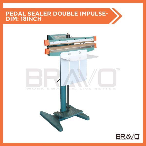 BRAVO Pedal Sealer Step Foot Stamping Sealer Double Impulse Quick Sealing Packing Machine [Seal Length - 18 Inch]