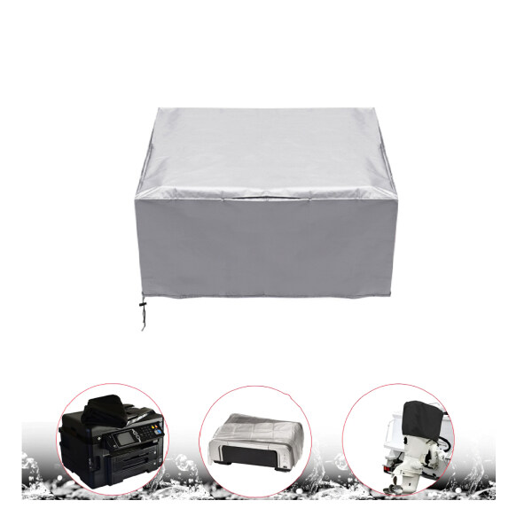Printer Dust Cover High Quality Oxford Cloth Fabric with Waterproof Coating Household Office Printer Protector Cover Silver