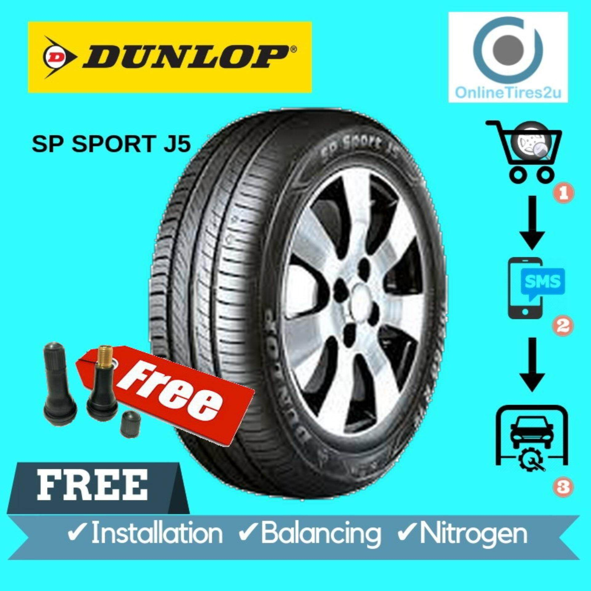 Dunlop Sp Sport J5 - 195/60r15 (with Installation) By Onlinetires2u.