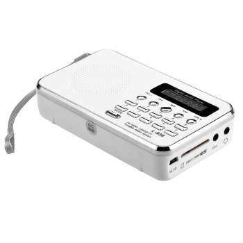 L-938 Mini FM Radio Digital Portable 3W Stereo Speaker MP3 Audio Player High Fidelity Sound Quality w/ 1.5 Inch Display Screen Support USB Drive TF SD MMC Card AUX-IN Earphone-out