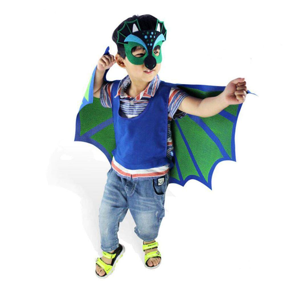 Funny Simulation Pterosaur Dinosaur Wings Costume with Mask for Kids Children Boys Girls Halloween Masquerade Role Play Dress-up Themed Party