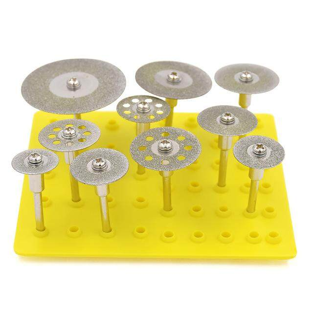 millionhardware - 10pcs Diamond Cutting Discs Cut-off Wheel Blades Set Diamond Coated Grinding Wheel