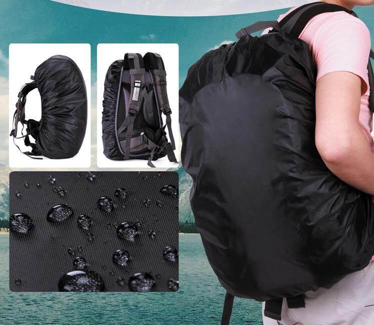 กระเป๋าเป้กันน้ำกลางแจ้ง Rucksack ที่บังฝนกระเป๋ากันฝนสำหรับ Camping Hiking (สีดำ) By Chaoshihui.