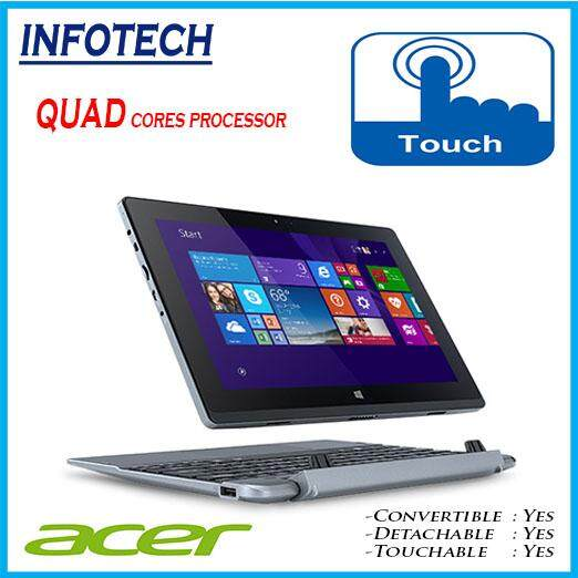 Acer aspire S1002 Intel Quad Cores, 32gb, Touch, English Keyboard, W10pro,  2 in 1 Detachable Convertible Windows Tablet LAPTOP Refurbished