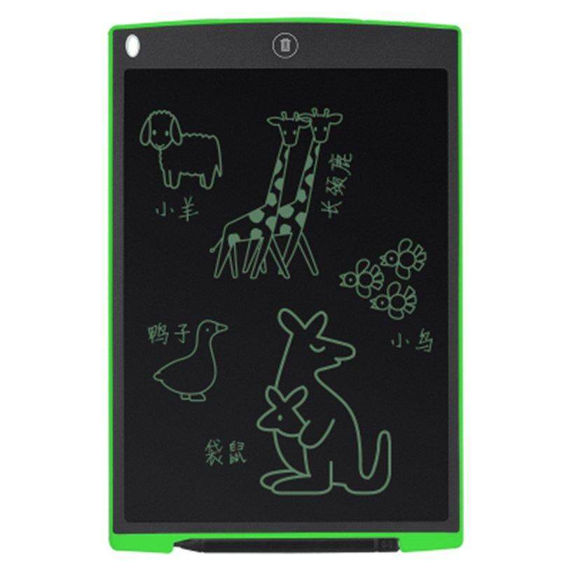H-MENT Ultra Thin 12 Inch LCD Digital Writing Tablet Drawing Board Sketchpad Electronic Graphic Board with Mouse Pad & Ruler