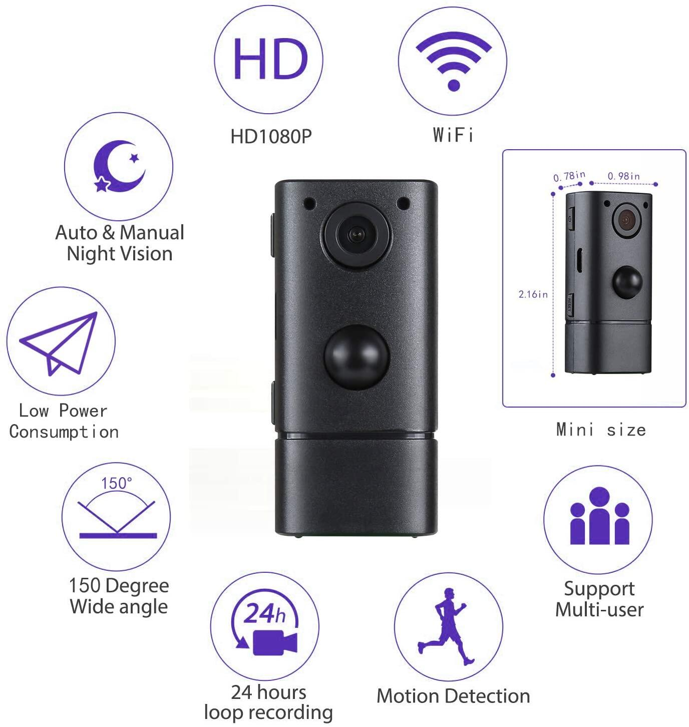 Jdm Mini Spy Camera Wifi Wireless Hidden Security Camera Hd 1080p Small Secret Nanny Cameras Perfect 150 Angle Tiny Spy Cam For Home Upgraded Night Vision And Motion Detection Guaranteed Remote