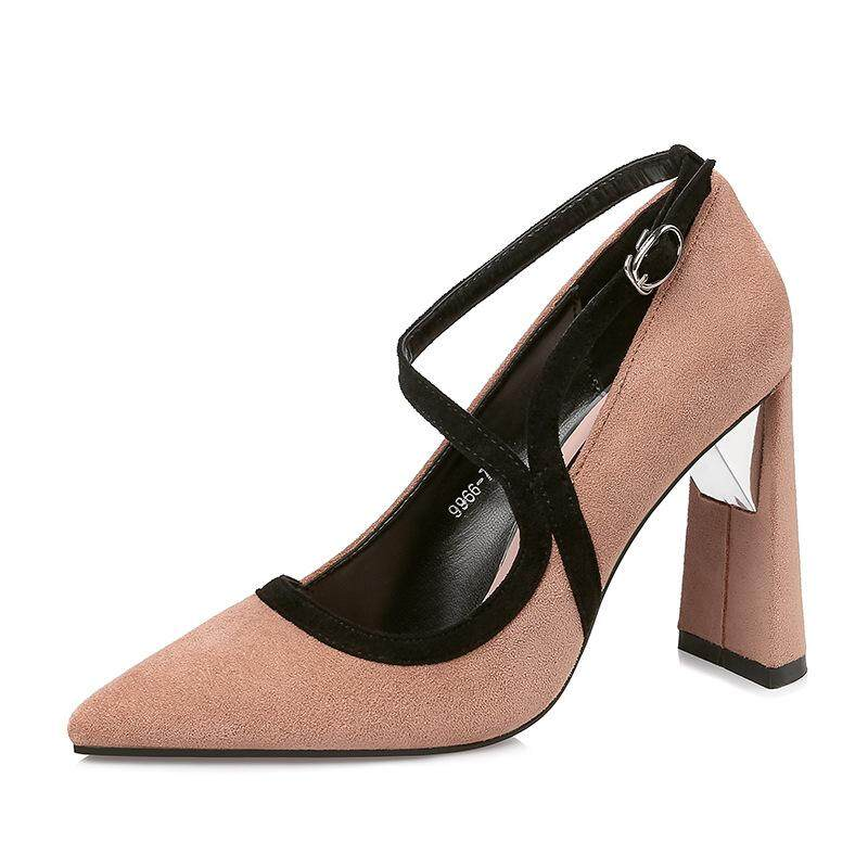 0424fc59628a 2018 New Women s Suede Fish Mouth Waterproof Platform Super High Heel 16cm High  Heels.
