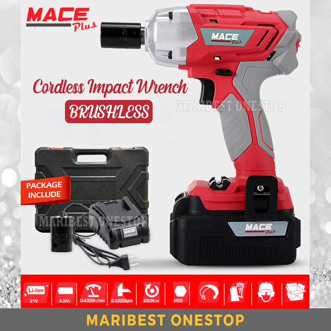 Mace Plus MT-IW21V Brushless Cordless Rechargeable Impact Wrench Socket Set