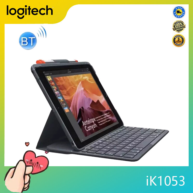 Logitech iK1053 SLIM FOLIO Protective Case with Intergrated Bluetooth Keyboard for iPad 9.7 2018 / 2017 / A1893 / A1954 / A1822 / A1823 Singapore