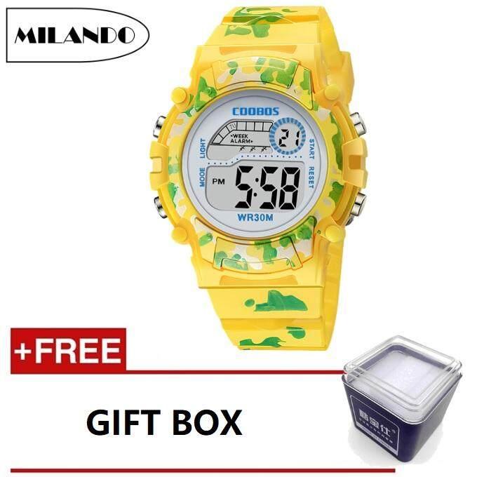 MILANDO Children watches LED Digital Multifunctional 30M Waterproof Outdoor Sports Watch FREE GIFT BOX (Type 3) Malaysia