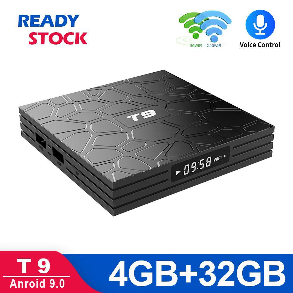 New T9 4GB 32GB (Pre-install 10k Channels/Movies) Android 9 0 TV BOX USB  3 0 Bluetooth 4K Smart TV 5G wifi PULIERDE Media Player IPTV Malaysia