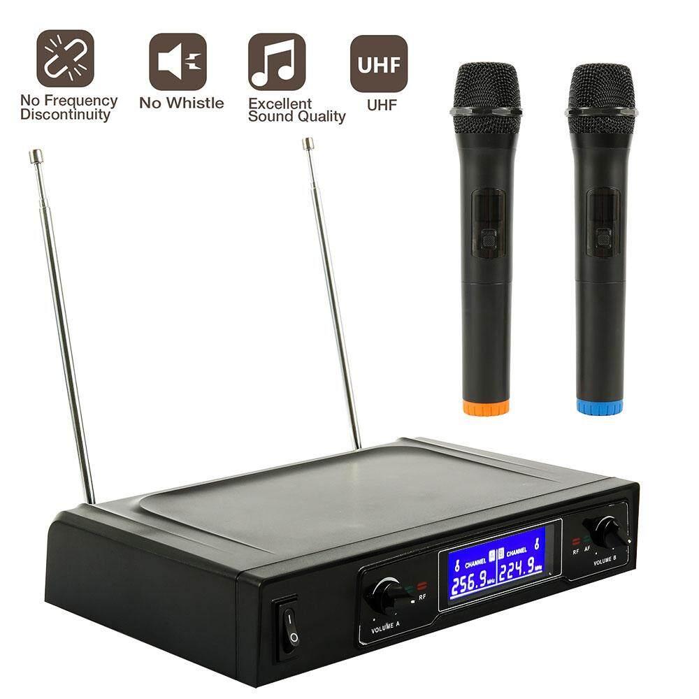 JTWEB Micro Không Dây Chuyên Nghiệp Hệ Thống Không Dây Cầm Tay Đầu Thu Mic Micro Karaoke kèm 2 Micro Phòng Thu Micro