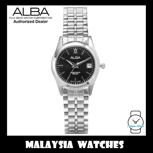 ALBA Ladies AH7F07X Quartz Analog Black Dial Stainless Steel Watch AH7F07 AH7F07X1 (from SEIKO Watch Corporation) Malaysia
