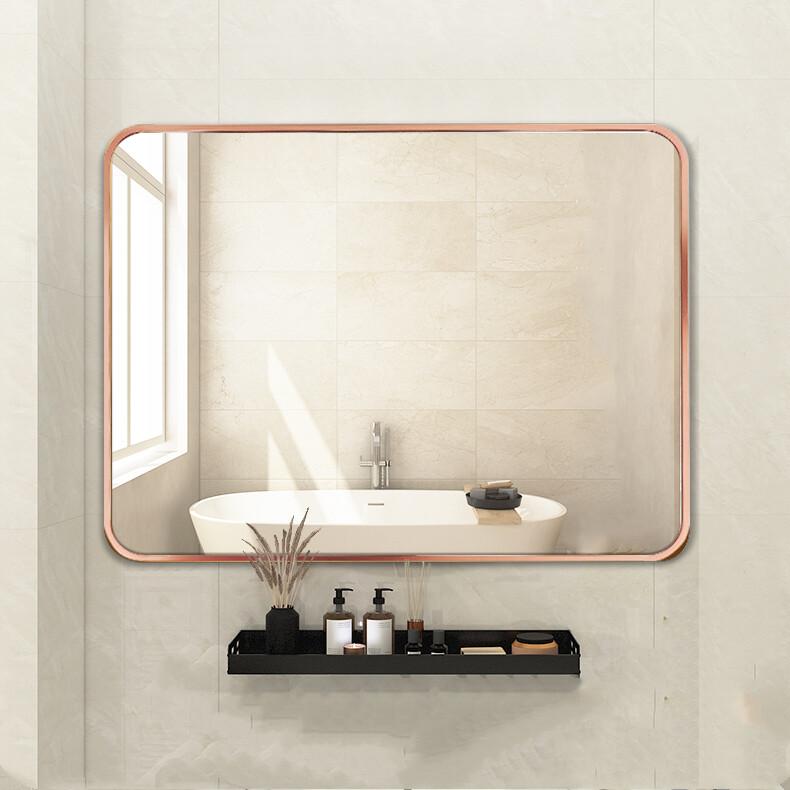 60x80cm Rose Gold Black Gold Aluminum Frame Round Corner Mirror Nordic Style Fashion Simple Hotel Bathroom Mirror Metal Frame Mirror Square Mirror Wall Mirror Decorative Mirror Makeup Mirror Creative Mirror Lazada