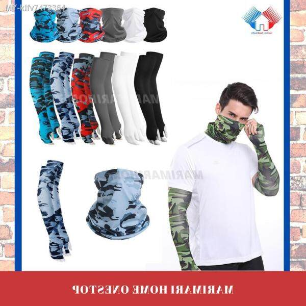 UV Protect Arm Sleeves Hand Socks Motor Sarung Lengan Motorcycle Motosikal Bike Fishing Arm Sleeve Buff Bandana