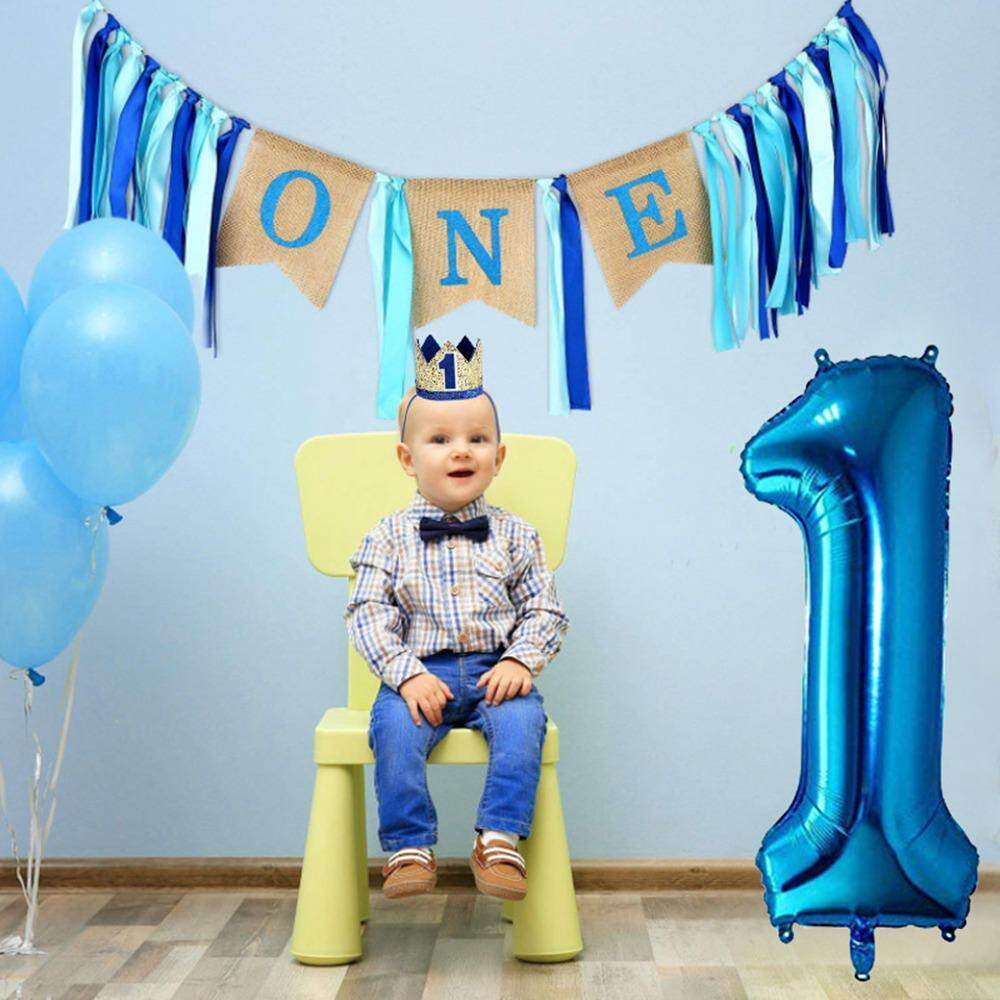 OnLook Baby 1st Birthday Boy Decorations WITH Crown